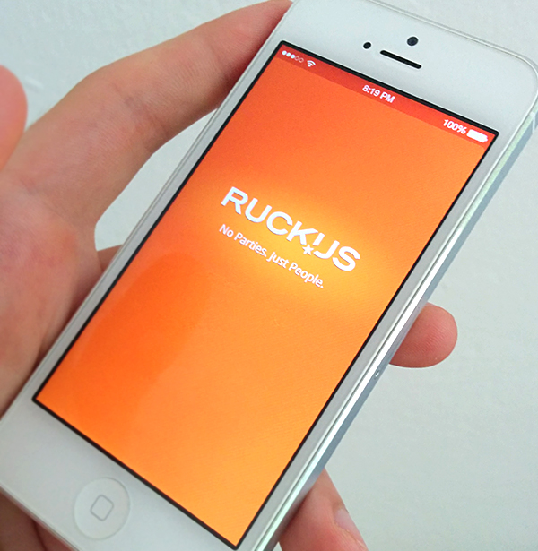 Ruckus iPhone aplikacija